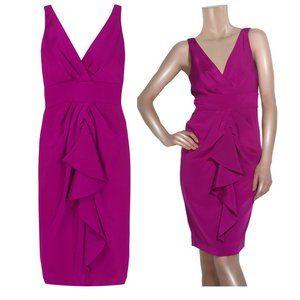 Diane Von Furstenberg Silk Fuchsia Dress
